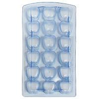 Форма для льда Яблоко, цвет: голубой, 18 ячеек25.35.27Форма для льда Яблоко выполнена из силикона. На одном листе расположено 18 ячеек в виде фигурок яблока. Благодаря тому, что формочки изготовлены из силикона, готовый лед вынимать легко и просто. Чтобы достать льдинки, эту форму не нужно держать под теплой водой или использовать нож.Теперь на смену традиционным квадратным пришли новые оригинальные формы для приготовления фигурного льда, которыми можно не только охладить, но и украсить любой напиток. В формочки при заморозке воды можно помещать ягодки, такие льдинки не только оживят коктейль, но и добавят радостного настроения гостям на празднике! Характеристики:Размер общей формы:11,5 см х 23 см х 2,5 см. Размер формочки: 2,5 см х 2,5 см х 2,2 см. Материал: силикон. Цвет: голубой прозрачный. Производитель: Италия. Артикул:253527.