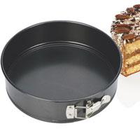 Форма для выпечки пирога Tescoma, раскладная. Диаметр 22 см623254Форма для выпечки Tescoma будет отличным выбором для всех любителей домашней выпечки. Особое высокотехнологичное антипригарное покрытие препятствует пригоранию и обеспечивает легкую очистку после использования. Форма легко разбирается при помощи специального механизма, что облегчает приготовление выпечки. Имеется петля, за которую изделие легко подвесить в удобном месте. С такой формой Вы всегда сможете порадовать своих близких оригинальной выпечкой. Характеристики: Материал:металл с анипригарным покрытием. Диаметр: 22 см. Производитель: Чехия. Артикул:623254.