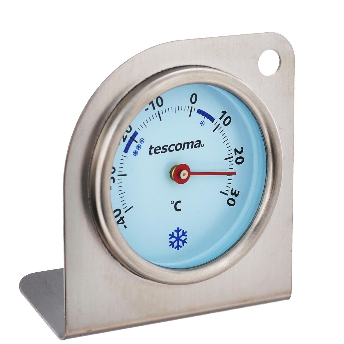 Термометр для холодильника Tescoma Gradius, цвет: серебристый636156Термометр Tescoma Gradius - настоящий помощник для любой хозяйки. Корпус термометра изготовлен из первоклассной нержавеющей стали с акцентом на точность и функциональность. Измеряет температуру внутри холодильника и морозильника от - 40°C до + 30°C. Термометр для холодильника Gradius идеален для контроля за правильным хранением блюд в домашнем хозяйстве и гастрономических заведениях. Он помогает точно хранить продукты в холодильниках и морозильниках при необходимой температуре.