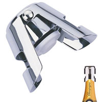 """Вашему вниманию предлагается пробка для шампанского """"Tescoma"""", замечательна для закрывания бутылок с шампанскими и всеми другими видами шипучих вин, с такой пробкой  напитки дольше сохранят свою свежесть.  Характеристики: Материал:  металл.  Длина:   5,5 см. Производитель: Чехия. Артикул: 420700."""