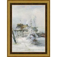 """Арт-постер в багете """"Зима"""" (А.К. Саврасов), 30 x 40 см, Экселлент-Арт"""