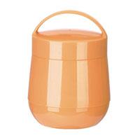 Термос для продуктов Tescoma Family, цвет: оранжевый, 1 л. 310582310582Термос для продуктов Tescoma Family пригодится в любой ситуации: будь то экстремальный поход, пикник или поездка. Корпус термоса выполнен из высококачественного цветного пластика. Колба термоса изготовлена из стекла, которое является экологически чистым материалом и прекрасно держит температуру. Изделие, оснащенное эргономичной ручкой, предназначено для хранения и переноски теплых и холодных блюд. В комплекте поставляется две пластиковые емкости и универсальная крышка. Емкости вкладываются в изоляционную колбу. Они предназначены для продуктов с высоким содержанием жиров, сахара либо кислот, а также блюд, которые тяжело отмываются со стенок стеклянной колбы. Нейтральные продукты можно хранить непосредственно в самой колбе.Термос Tescoma Family - это идеальный вариант для большой компании и дальней поездки. Не рекомендуется мыть в посудомоечной машине.Диаметр термоса (по верхнему краю): 13 см.Высота термоса (без учета крышки): 15 см.Диаметр малой чаши (по верхнему краю): 12 см.Высота малой чаши: 4,5 см.Диаметр большой чаши (по верхнему краю): 12,3 см.Высота большой чаши: 16,5 см.Диаметр крышки: 13 см.