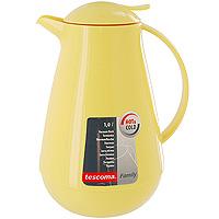 Термос с крышкой-дозатором Family, цвет: желтый, 1 л. 310555