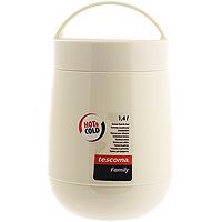 """Термос для продуктов Tescoma """"Family"""" предназначен для хранения и переноски теплых и холодных блюд. Термос имеет две пластиковые емкости. Продукты можно хранить непосредственно в стеклянной колбе либо в пластиковых емкостях, которые вкладываются в изоляционную колбу. Особо рекомендуем использовать пластиковые емкости для продуктов с высоким содержанием жиров, сахара либо кислот, а также блюд, которые тяжело отмываются со стенок стеклянной колбы. Нейтральные продукты можно хранить непосредственно в изоляционной колбе. Термос имеет удобную ручку для транспортировки."""