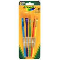 Набор кисточек Crayola (Краела), 5 штЖС3-10,02ЖНабор кисточек Crayola идеально подойдет для рисования и декоративно-оформительских работ. Набор состоит из пяти кисточек разного размера для линий разной формы и размеров. Жесткая щетина кисточек подходит для многократного использования. Кисточки с отличными показателями контроля над текучестью и эргономичным дизайном выгодно выделяются из ряда подобных. 5 кисточек.