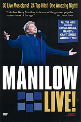 Barry Manilow is a master showman who makes each lyrical passage an intimate gift to fans. His sold-out performance in the heart of Music City USA provides insights and highlights into this exceptional performer's 25-year career. From the first standing ovation to the last, Barry Manilow's diverse style will enchant any music enthusiast.       Tracklist: 01. Could It Be Magic?    02. Somewhere In The Night 03. Tryin' To Get The Feeling  04. Can't Smile Without You   05. Bandstand Boogie        06. Mandy                 07. Even Now              08. Daybreak              09. Flight Of The Bumblebee10. All The Time           11. New York City Rhythm    12. Every Single Day       13. I Am Your Child           14. This One's For You         15. Sinatra Overture          16. Chicago (My Kind of Town)    17. That's Life                 18. When October Goes           19. Weekend In New England      20. Copacabana                  21. I Made It Through The Rain     22. One Voice / I Write The Songs  23. Stars In The Night