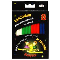 Пластилин восковой Флюрики, 8 цветов пластилин mattel пластилин ever after high фиолетовая серия 12 цветов стек