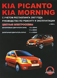 С. Н. Погожий, М. Е. Мирошниченко Kia Picanto / Morning с 2003 г., Бензиновые двигатели: 1.0 / 1.1 л. Дизельные двигатели: 1.1 л. Руководство по ремонту и эксплуатации. Цветные электросхемы