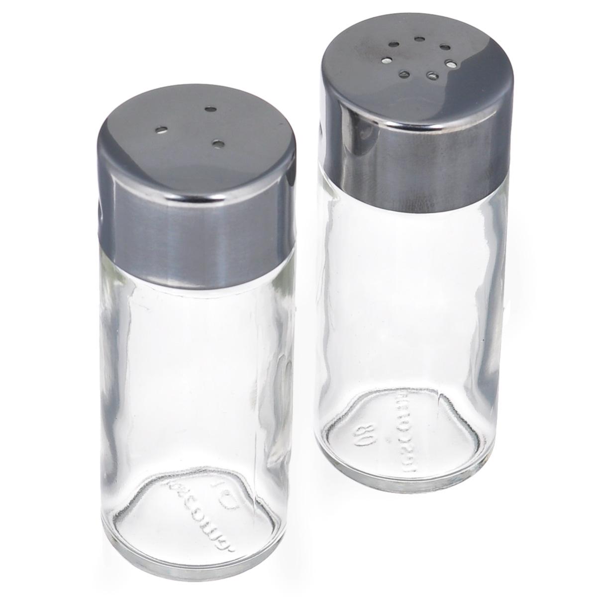 Набор для специй Tescoma Club, 2 предмета650314Набор Tescoma Club, состоящий из солонки и перечницы, изготовлен из первоклассной нержавеющей стали и стекла. Солонка и перечница легки в использовании: стоит только перевернуть емкости, и вы с легкостью сможете поперчить или добавить соль по вкусу в любое блюдо. Дизайн, эстетичность и функциональность набора позволят ему стать достойным дополнением к кухонному инвентарю.