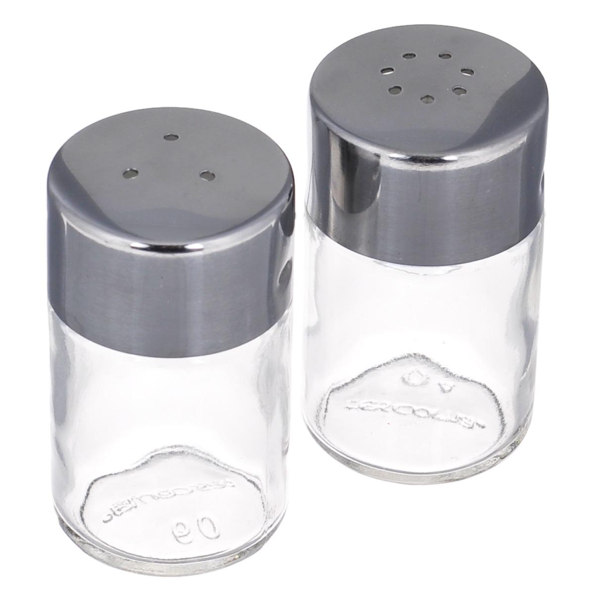 Набор для специй Tescoma Club, 2 предмета. 650310650310Набор Tescoma Club, состоящий из солонки и перечницы, изготовлен из первоклассной нержавеющей стали и стекла. Солонка и перечница легки в использовании: стоит только перевернуть емкости, и вы с легкостью сможете поперчить или добавить соль по вкусу в любое блюдо. Дизайн, эстетичность и функциональность набора позволят ему стать достойным дополнением к кухонному инвентарю.