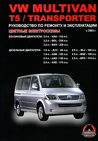 Zakazat.ru Volkswagen Multivan / T5 / Transporter с 2003 г. выпуска. Руководство по ремонту и эксплуатации. Н. В. Омелич, Д. Н. Майбород