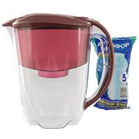 Фильтр-кувшин для воды Аквафор Гратис, цвет: красный фильтр кувшин для воды аквафор стандарт цвет голубой прозрачный 2 5 л