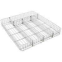 """Сушилка """"Metaltex"""", выполненная из стали, представляет собой решетку с пятью ячейками разных размеров, в которые помещаются столовые приборы. Сушилка займет достойное место на вашей кухне.  Характеристики: Материал:  сталь. Размер: 34 см х 30 см х 4 см. Производитель: Италия. Артикул: 36.32.10."""