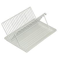 Сушилка для посуды Pratico32.17.40Сушилка для посуды изготовлена из стали со специальным покрытием - PraticoDPE plastic - пластик низкогодавления. Устойчив к действию воды, не реагирует с щелочами, с растворами солей, органическими инеорганическими кислотами. При комнатной температуре нерастворим и не набухает. 42 х 29 см Пластиковый поднос в комплекте. Отдельные крючки для чашек.