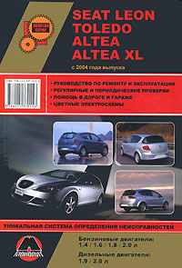 М. Е. Мирошниченко Seat Leon / Toledo / Altea / Altea XL с 2004 года выпуска. Руководство по ремонту и эксплуатации