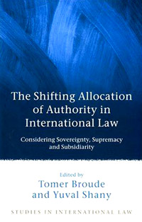 The Shifting Allocation of Authority in International Law swedish studies in european law volume 1 2006
