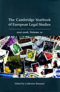 Cambridge Yearbook of European Legal Studies, Vol 10, 2007-2008 swedish studies in european law volume 1 2006