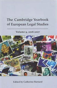 Cambridge Yearbook of European Legal Studies, Vol 9, 2006-2007 swedish studies in european law volume 1 2006