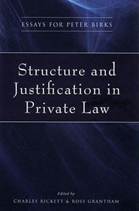 Structure and Justification in Private Law swedish studies in european law volume 1 2006