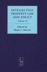 Intellectual Property Law and Policy Volume 10 swedish studies in european law volume 1 2006