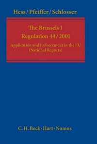 The Brussels 1 Regulation 44/2001 купить