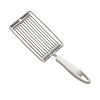 Нож для нарезки помидоров Tescoma Presto, цвет: белый420134Нож для нарезки помидоров Tescoma Presto, изготовленный из высококачественной нержавеющей стали и пластика, нарезает помидоры ровными дольками, не раздавливая их. Нож имеет зубчатые лезвия, которые легко проникают в кожуру продуктов и разрезают их на одинаковые дольки. Изделие оснащено эргономичной ручкой, которая не скользит в руках и делает его использование удобным и безопасным. Ручка снабжена специальным отверстием для подвешивания.Нож Tescoma Presto займет достойное место среди аксессуаров на вашей кухне. Можно мыть в посудомоечной машине.Общая длина изделия: 26 см.Ширина изделия: 8,5 см.Расстояние между лезвиями 6 мм.