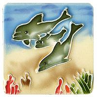 Магнит декоративный Дельфины. 10189 переводки дельфины