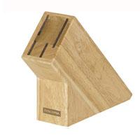 Подставка для ножей Tescoma деревянная, цвет: светло-коричневый869504Подставка Tescoma, выполненная из первоклассной древесины бразильского каучука, предназначена для 4 ножей и займет достойное место на вашей кухне, добавив интерьеру оригинальности и изысканности. Она поможет вам в удобном и безопасном хранении ножей. Подставка очень устойчива и не упадет, когда вы будете вынимать из нее ножи. Дно изделия оснащено силиконовыми накладками для предотвращения скольжения по поверхности стола. Благодаря такой подставке кухонные ножи всегда будут у вас под рукой. Размер подставки: 21 см х 6 см х 16,5 см.
