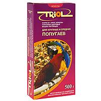 Корм Triol для крупных и средних попугаев , 500 г triol корм для мелких и средних попугаев с мёдом