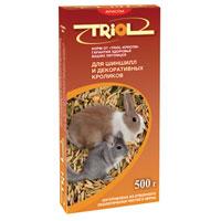 Корм для шиншил и кроликов Triol Криспи, 500 г корм для животных triol корм для шиншилл и кроликов