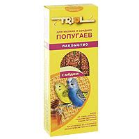 Лакомство для мелких и средних попугаев Triol, с медом, 3 шт triol корм для мелких и средних попугаев с мёдом
