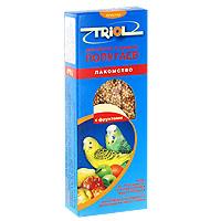 Лакомство для мелких и средних попугаев Triol, с фруктами, 3 шт веселый попугай отборное зерно для средних попугаев 450 г
