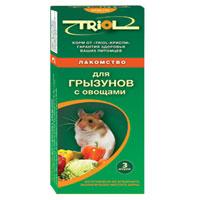 Лакомство для грызунов Triol, с овощами, 3 шт корм для животных triol лакомство для грызунов с мёдом уп 3 шт