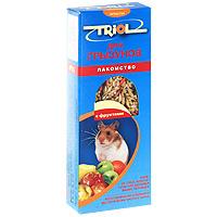 Лакомство для мелких грызунов Triol, с фруктами, 3 шт корм для животных triol лакомство для грызунов с мёдом уп 3 шт