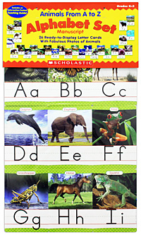 Animals from A to Z Manuscript Alphabet Set aoa autographed signed original photo angel s knock 7 photos set 4 6 inches collection new korean freeshipping 022017 a