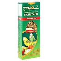 Лакомство для мелких и средних попугаев Triol, с овощами, 3 шт triol корм для мелких и средних попугаев с мёдом