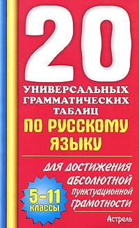 20 универсальных грамматических таблиц по русскому языку для достижения абсолютной пунктуационной грамотности. 5-11 классы