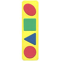 Бомик Пазл для малышей Простые геометрические фигуры бомик пазл для малышей цифры цвет основы красный