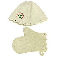 Комплект для бани и сауны Eva, Б15Б15Комплект для сауны и бани Eva состоит из шляпы и варежки. Такой набор станет незаменимым для любителей попариться в русской бани и для тех, кто предпочитает сухой жар финской бани. Необычный дизайн изделий поможет сделать ваш отдых более приятным и разнообразным. Комплект станет отличным подарком для любителей отдыха в бане или сауне. Характеристики: Материал: шерсть. Диаметр основания шляпы: 35 см. Высота шляпы: 23 см. Размер варежки:28 см х 16 см. Производитель: Россия. Артикул: Б15.