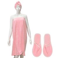 """Комплект для бани и сауны """"Люкс"""", цвет: розовый"""