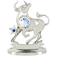 Сувенир Знаки зодиака: Телец, цвет: серебристый, 8 см