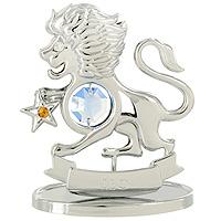 Сувенир Знаки зодиака: Лев, цвет: серебристый, 8 см новогодний сувенир сувенир crystocraft овечка gold u0347 001 gc1t