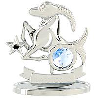 Сувенир Знаки зодиака: Козерог, цвет: серебристый, 7,5 см новогодний сувенир сувенир crystocraft овечка gold u0347 001 gc1t