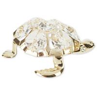 Миниатюра Морская черепаха, цвет: золотистый, 6 смU0209-001-GCДекоративное изделие в виде черепахи, панцирь которой украшен кристаллами Swarovski, изготовлено из высококачественной стали. Оригинальная миниатюра будет отличным подарком для ваших друзей и коллег.Более 30 лет компания Crystocraft создает качественные, красивые и изящные сувениры, декорированные различными кристаллами Swarovski.Характеристики: Материал:сталь, кристаллы Swarovski. Длина:6 см. Размер коробки:6,5 см х 9 см х 4,5 см. Артикул:U0209-001-GC1. Производитель: Китай.