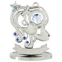 Сувенир Знаки зодиака: Водолей, цвет: серебристый, 8,5 смU0267-001-CBLBДекоративное изделие, выполненное в виде знака зодиака Водолей, с голубым кристаллом Swarovski посередине, а также кристаллами синего и светло-голубого цветов, изготовлено из высококачественной стали. Оригинальный сувенир будет отличным подарком для ваших друзей и коллег.Более 30 лет компания Crystocraft создает качественные, красивые и изящные сувениры, декорированные различными кристаллами Swarovski.Характеристики:Материал:сталь, кристаллы Swarovski.Высота:8,5 см. Размер упаковки:9,5 см х 11 см х 4,5 см. Артикул:U0267-001-CBLB. Производитель:Китай.