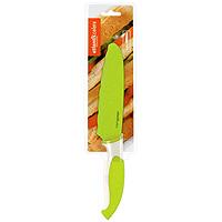 Нож универсальный Atlantis 15см L-6D-GL-6D-GНож универсальный Atlantis высшего качества предназначен для профессионального и домашнего использования, а также для универсального использования при обработке продуктов.Очень удобная и эргономичная ручка не позволит выскользнуть ножу из вашей руки.Нож обработан специальным покрытием Microban. Покрытие Microban - самое надежное в мире средство для защиты от бактерий, грибков, плесени и запахов. Действует постоянно, даже после мытья, обеспечивая большую защиту ножа. Антибактериальная защита работает на протяжении всего срока службы ножа.Особенности ножа Atlantis: японская высокоуглеродистая нержавеющая стальпрочный и острый клинокбезопасное и прочное покрытие лезвия, не дающее пище прилипать к ножукрасивое сочетание цветов ручки и лезвиязатупленный кончик лезвия для большей безопасности. Характеристики:Материал: нержавеющая сталь, пластик. Длина лезвия: 15 см. Длина общая: 28 см. Производитель: Китай. Артикул: L-6D-G.