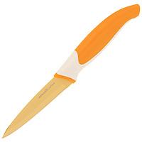 Нож для овощей Atlantis 9см L-3P-OL-3P-OНож для овощей Atlantis всегда должен быть под рукой. Он превосходно подойдет для чистки и нарезки овощей. Особенности ножа Atlantis: японская высокоуглеродистая нержавеющая стальпрочный и острый клинокэргономический дизайн ручкибезопасное и прочное покрытие лезвия, не дающее пище прилипать к ножукрасивое сочетание цветов ручки и лезвия. Характеристики: Материал: нержавеющая сталь, пластик. Длина лезвия: 9 см. Длина общая: 20 см. Производитель: Китай. Артикул: L-3P-O.