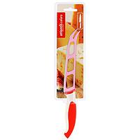 Нож для сыра Atlantis, цвет: красный, длина лезвия 13 см. L-5Z-RL-5Z-RНож для сыра Atlantis превосходно подходит для нарезки твердых и мягких сыров, также на конце лезвия имеется вилка - для сервировки сыра.Особенности ножа Atlantis: японская высокоуглеродистая нержавеющая стальпрочный и острый клинокэргономический дизайн ручкибезопасное и прочное покрытие лезвия, не дающее пище прилипать к ножукрасивое сочетание цветов ручки и лезвия. Характеристики: Материал: нержавеющая сталь, пластик. Длина лезвия: 13 см. Общая длина: 25 см. Производитель: Китай. Артикул: L-5Z-R.