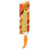 Нож универсальный Atlantis 15см L-6D-OL-6D-OНож универсальный Atlantis высшего качества предназначен для профессионального и домашнего использования, а также для универсального использования при обработке продуктов.Очень удобная и эргономичная ручка не позволит выскользнуть ножу из вашей руки.Нож обработан специальным покрытием Microban. Покрытие Microban - самое надежное в мире средство для защиты от бактерий, грибков, плесени и запахов. Действует постоянно, даже после мытья, обеспечивая большую защиту ножа. Антибактериальная защита работает на протяжении всего срока службы ножа.Особенности ножа Atlantis: японская высокоуглеродистая нержавеющая стальпрочный и острый клинокбезопасное и прочное покрытие лезвия, не дающее пище прилипать к ножукрасивое сочетание цветов ручки и лезвиязатупленный кончик лезвия для большей безопасности. Характеристики:Материал: нержавеющая сталь, пластик. Длина лезвия: 15 см. Длина общая: 28 см. Производитель: Китай. Артикул: L-6D-O.