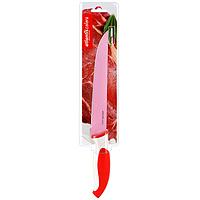 Нож для нарезки Atlantis 20см L-8S-RL-8S-RНож кухонный Atlantis высшего качества предназначен для профессионального и домашнего использования, для нарезки продуктов.Очень удобная и эргономичная ручка не позволит выскользнуть ножу из вашей руки. Особенности ножа Atlantis: японская высокоуглеродистая нержавеющая стальпрочный и острый клинокбезопасное и прочное покрытие лезвия не дающее пище прилипать к ножукрасивое сочетание цветов ручки и лезвия. Характеристики: Материал: нержавеющая сталь, пластик. Длина лезвия: 20 см. Длина общая: 33,5 см. Производитель: Китай. Артикул: L-8S-R.